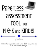 Paperless assessment tool for Pre-K and Kinder