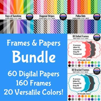 Papers & Frames ~ Money Saving Bundle ~ Twenty Colors
