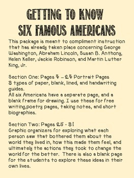Papers and Organizers of Six Famous Americans