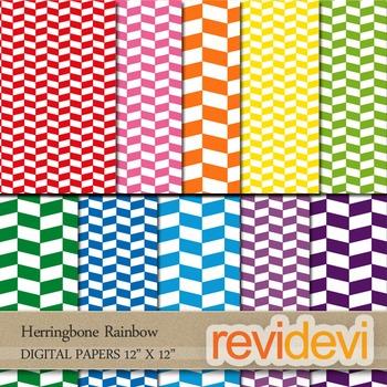 Papers for digital cover: Herringbone Rainbow