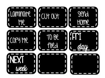 Paperwork Labels
