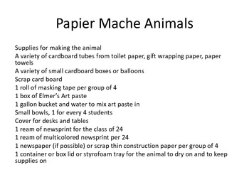 Paper Mache Animals for Cinco de Mayo