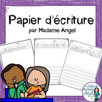 French Monthly Writing Paper  (Papier d'écriture)
