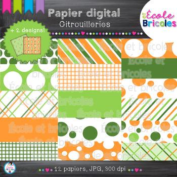 Papier digital-Docudéco Citrouilleries/Pumpkin Background