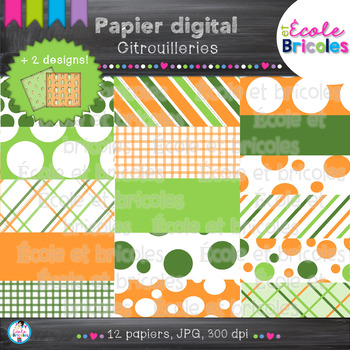 Papier digital-Docudéco Citrouilleries/Pumpkin Background digital paper