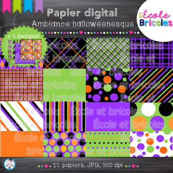 Papier digital-Docudéco Ambiance halloweenesque/Halloween digital paper