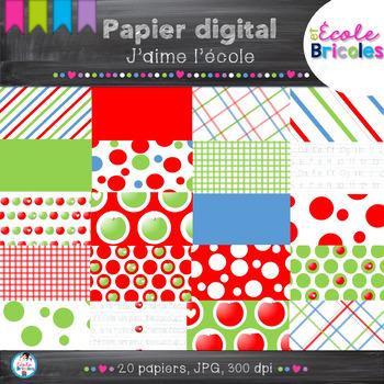Papier digital- Docudéco J'aime l'école/I love school digi