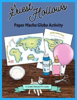 7 Continents Cut-Outs and Papier-mâché (Paper Mache) Globe