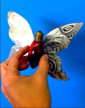 Printemps: Arts plastiques: Papillon-lumière, projet 3D, français