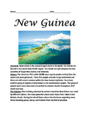 Papua New Guinea - Lesson informational article questions facts activities