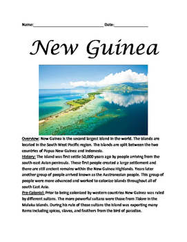 Papua New Guinea - Lesson informational article questions