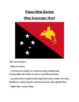 Papua New Guinea Map Scavenger Hunt