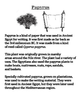 Papyrus Handout