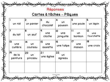 Pâques - Cartes à tâches - Qui suis-je? French Easter Task Cards