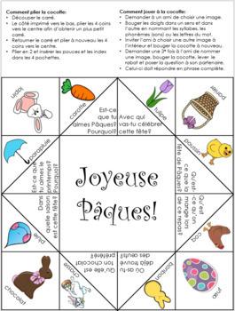 Pâques Cocotte en papier - Easter French