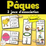Pâques - Ensemble 2 jeux d'association - French Easter