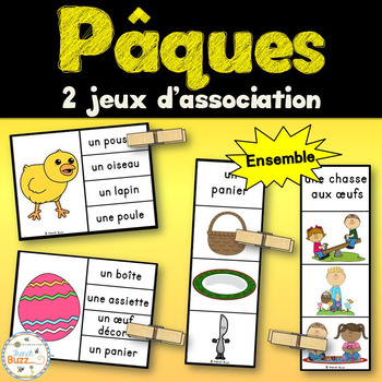 Pâques - Ensemble 2 jeux d'association - French Easter
