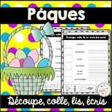 Pâques - French Easter - Découpe et colle