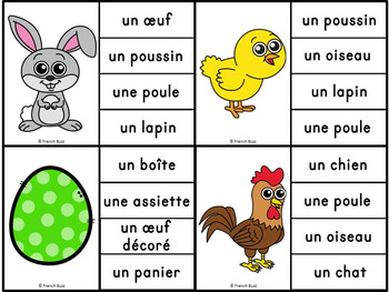 Pâques - Jeu d'association #1 - French Easter Clip Cards