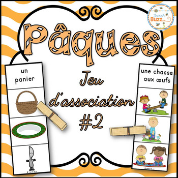 Pâques - Jeu d'association #2 - French Easter Clip Cards