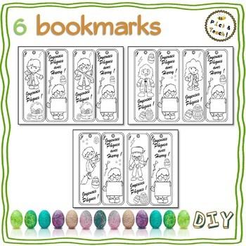 """PAQUES, Marque-pages """"Harry"""" à colorier et compléter"""