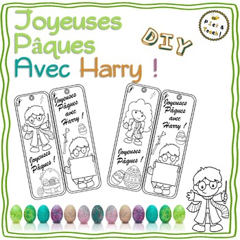 Marque Pages De Paques A Colorier Et Completer Pour Les Fans D