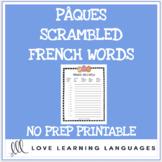 Pâques Méli-Mélo - French Scrambled Words for Easter