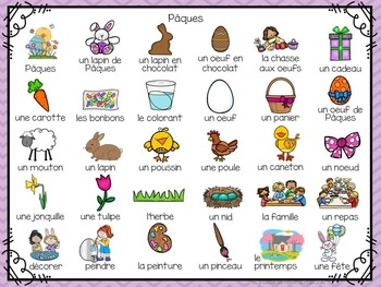 Pâques (Paques):  3 Easter Themed Vocabulary Games in French