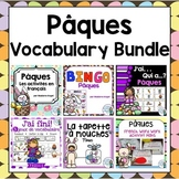 Pâques (Paques) Easter Themed Vocabulary BUNDLE in French