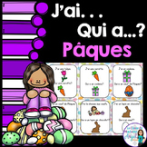 Pâques (Paques) Easter Themed Vocabulary Game in French - J'ai...Qui a...?