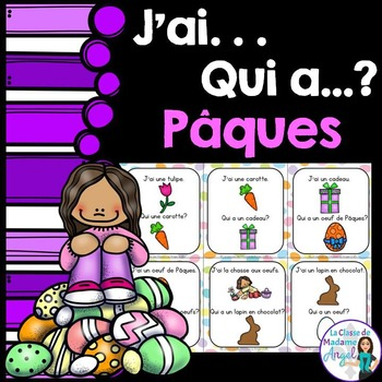 Pâques (Paques) Easter Themed Vocabulary Game in French -