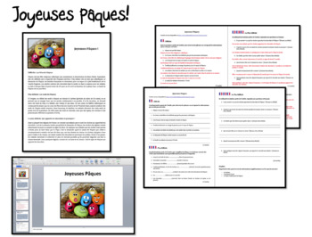 Pâques- Reading comprehension- Intermediate to advanced