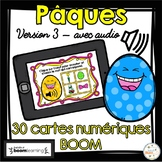 Pâques - Vocabulaire #3 - Avec audio - French Easter - BOOM cards