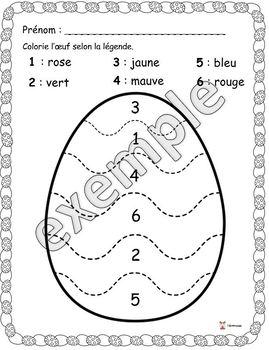 Pâques: colorier l'oeuf