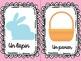 Pâques flashcards/ Easter flashcards/ Flashcards Pascua