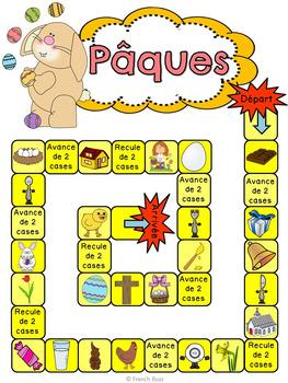 Pâques - jeu de société - French Easter board game