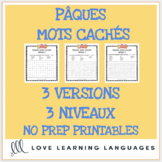 Pâques mots cachés - French word search for Easter