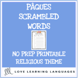 Pâques religious theme scrambled words - French scrambled