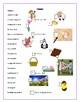 Pâques - vocabulaire et mot caché