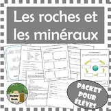 Les roches et les minéraux – Science Rocks and Minerals Student Packet