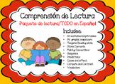 Paquete de Comprension de Lectura Reading Comprehension Spanish