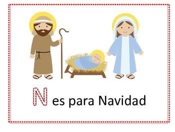 Paquete de Navidad (Nativity packet in Spanish)