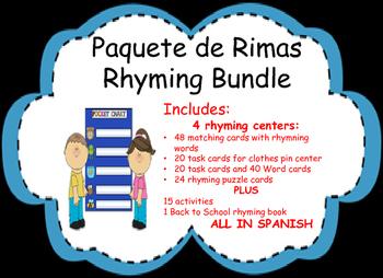 Paquete de Rimas Rhyming Activity Bundle