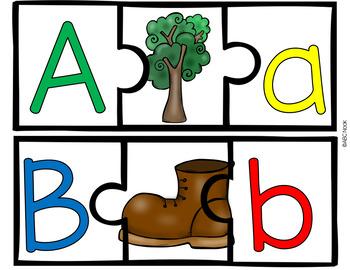 Paquete de Rompecabezas del Alfabeto