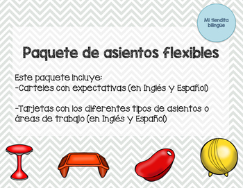 Paquete de asientos flexibles / Flexible Seating Expectations