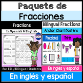Paquete de fracciones: incluye carteles en ingles y espanol
