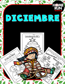 Paquete de matemáticas y lectura para Diciembre;Dec. Math and Lit. in Spanish