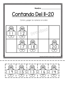Paquete de matemáticas y lectura para enero;Jan. Math and Literacy in Spanish