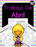 Paquete de matematicas y lectura para abril (Spanish April Math and Lit. Packet)