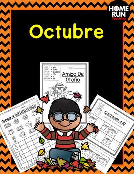 Paquete de matemáticas y lectura para octubre